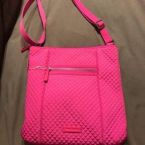 Hot pink quilted Vera Bradley crossbody purse